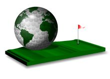 Golf world game Stock Image