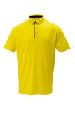 Golf yellow with black trim tee shirt for man or woman royalty free stock images