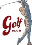 golfa odosobniony gracza strzału studio Zdjęcie Royalty Free