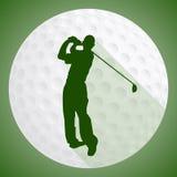 golfa odosobniony gracza strzału studio Fotografia Stock