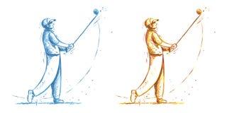 golfa odosobniony gracza strzału studio ilustracji