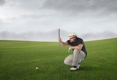 Golfabgleichung lizenzfreies stockbild