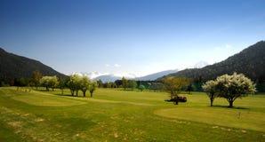 golfacademy golfplatz seefeld 免版税库存照片