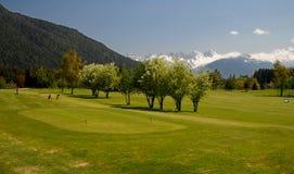 golfacademy golfplatzseefeld Fotografering för Bildbyråer
