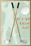 Golfaffisch stock illustrationer