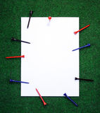 golfanmärkningspinnor arkivfoto