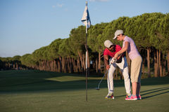 Golfanweisungen stockbild
