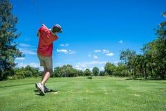 golfare av utslagsplats Arkivbild