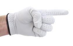 golfarehand som pekar höger s till Royaltyfria Foton