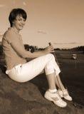 golfarelady Royaltyfri Foto