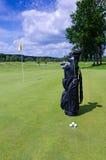 Golfausrüstung - Zusammensetzung im Freien Lizenzfreies Stockfoto