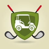 Golfausrüstungsdesign Stockfotografie