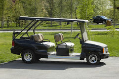 Golfauto Stockfoto