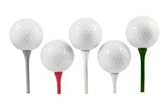 Golfbälle Lizenzfreie Stockbilder