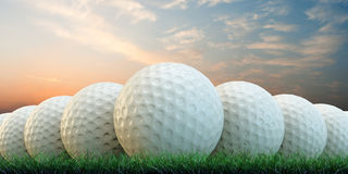 Golfbälle stock abbildung