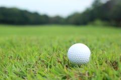 Golfbal die in fairway liggen Royalty-vrije Stock Afbeeldingen