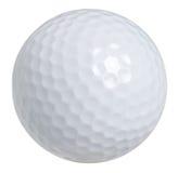 Golfbal die op wit met het knippen van weg wordt geïsoleerd Stock Fotografie