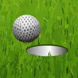 Golfbal en een gat vector illustratie