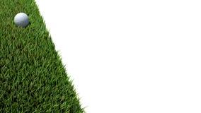 Golfbal op groene 01 Stock Afbeeldingen