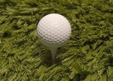 Golfbal op T-stuk stock foto's