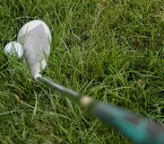 Golfbal in ruw Royalty-vrije Stock Afbeeldingen