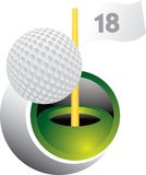 Golfbal swoosh Royalty-vrije Stock Foto's