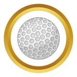 Golfbal vectorpictogram vector illustratie