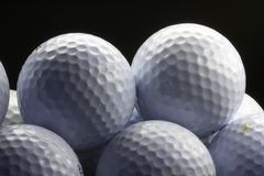Golfball 02. Used golfballs Royalty Free Stock Photo