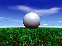 Golfball. Join in at the rich Royalty Free Stock Photo