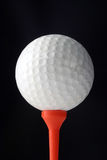 Golfball And Tee Stock Photography