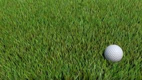 Golfball auf Grün 06 Stockfotos