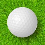 Golfball auf Gras Stockbilder