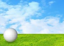 Golfball auf Gras Lizenzfreie Stockbilder