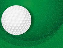 Golfball auf strukturierter grüner Illustration Lizenzfreie Stockfotografie