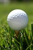 Golfball auf T-Stück Lizenzfreie Stockbilder