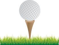 Golfball auf T-Stück stock abbildung
