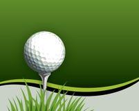 Golfball auf T-Stück Lizenzfreies Stockfoto