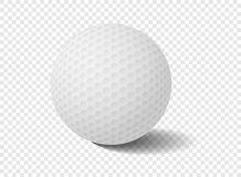 Golfball auf Transparenzgitter - Vektor-Illustration Lizenzfreie Stockfotos