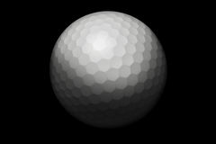 Golfball in black Stock Images