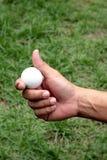 Golfball in der Hand Lizenzfreie Stockfotos