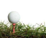 Golfball in erba Fotografie Stock Libere da Diritti