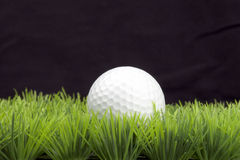 Golfball on fairway Royalty Free Stock Image