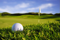 Golfball+flag Royalty Free Stock Photo