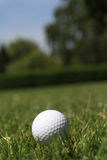 Golfball in grass Royalty Free Stock Images