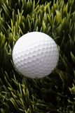 Golfball in grass. Royalty Free Stock Image