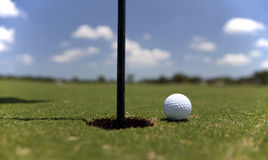 Golfball on the Green stock photo