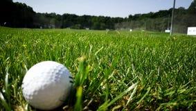 Golfball im grass lizenzfreies stockbild