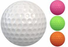 Golfball mit runden Grübchen Lizenzfreies Stockbild