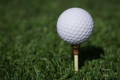 Golfball na trójniku Obraz Stock