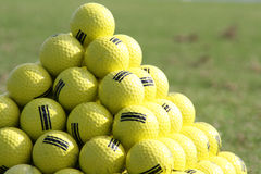 Golfball pyramide Stock Photos